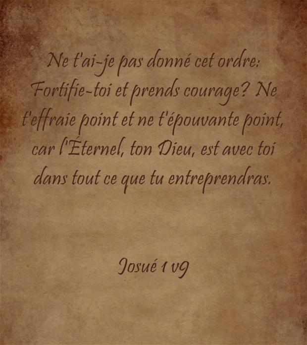 Fortifie-toi et prends courage